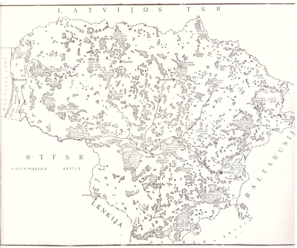 Lietuvos miškai 1958 m.