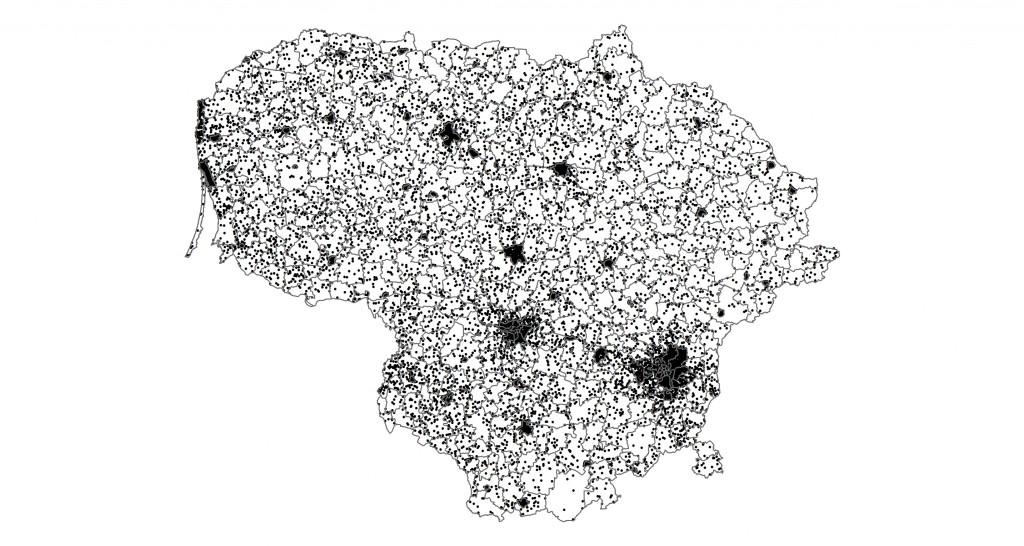 Gyventojų tankumas Lietuvoje