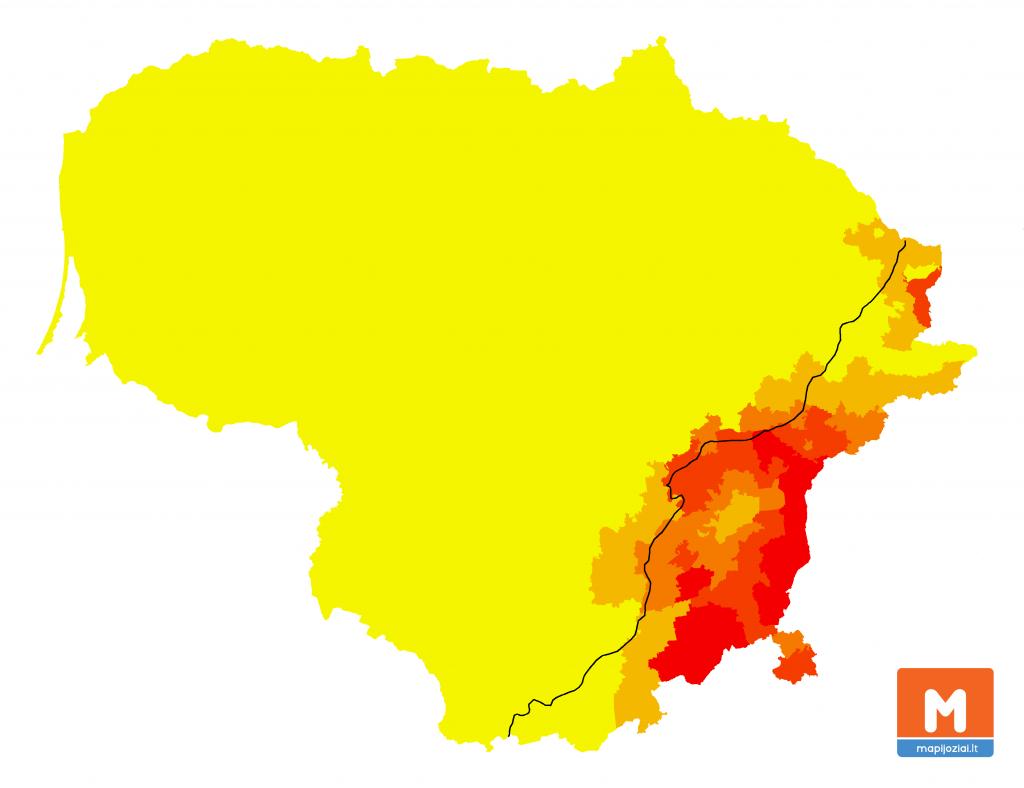 Lenkų kalba gimtoji vs. 1923 m. siena