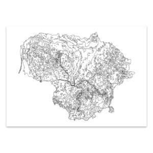 Lietuvos reljefo žemėlapis