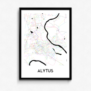 Alytaus žemėlapis (Šviesus)