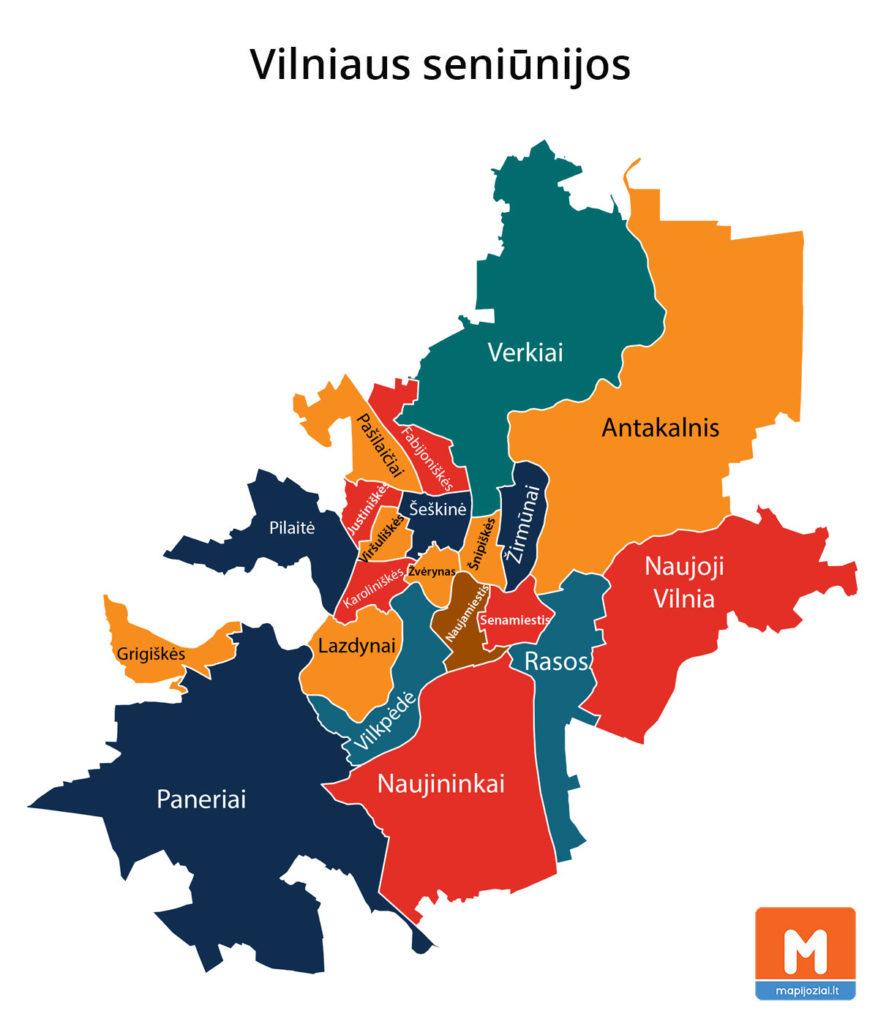 Vilniaus seniūnijos žemėlapis