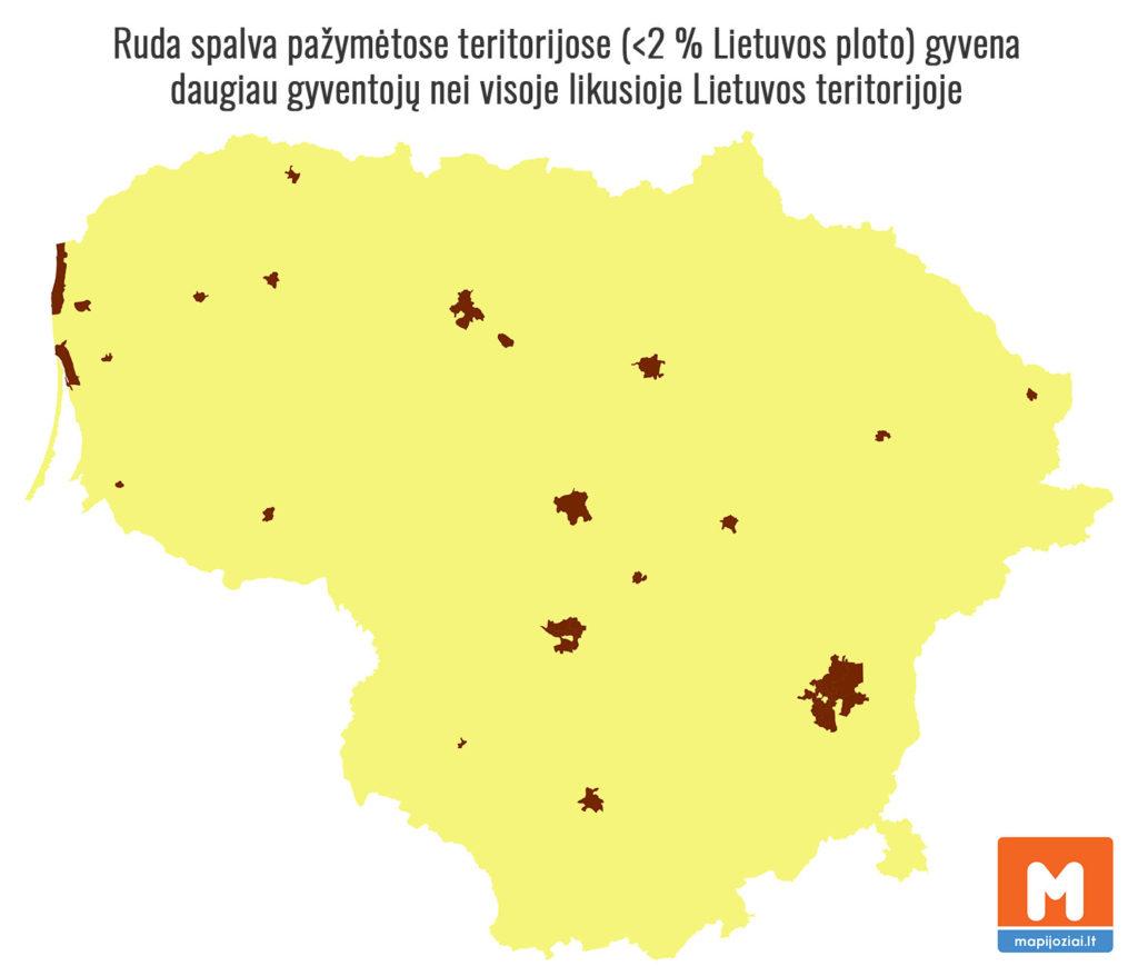 Lietuvos gyventojų pasiskirstymas seniūnijose