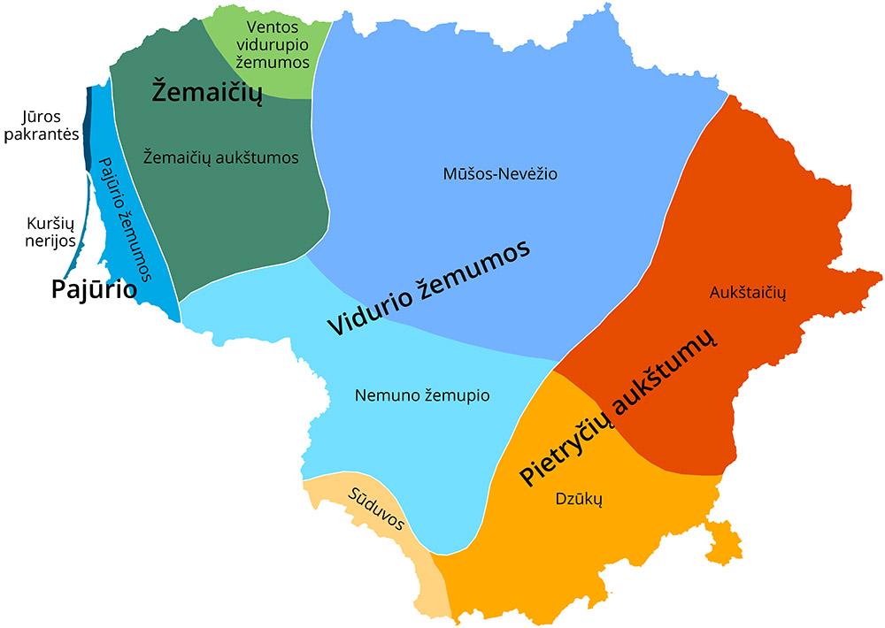 Lietuvos klimato rajonai