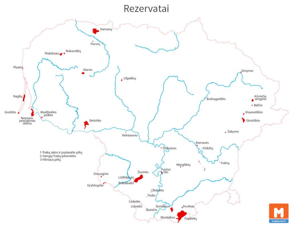 Rezervatai Lietuvoje