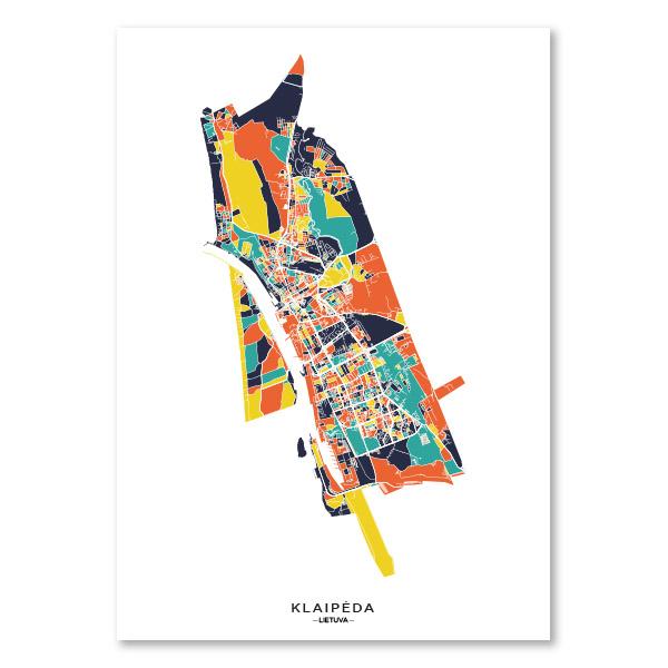 Klaipėdos spalvotas žemėlapis