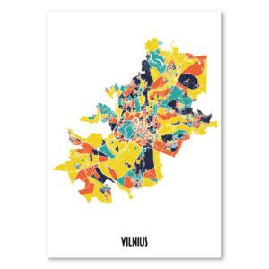 Vilniaus spalvotas žemėlapis