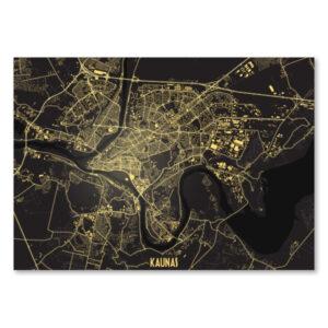 Kauno naktinis žemėlapis