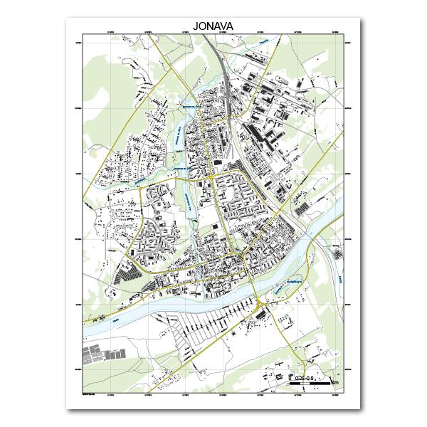 Jonavos žemėlapis