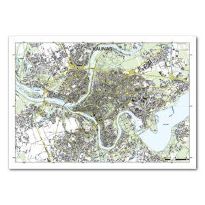 Kauno žemėlapis